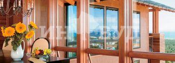 Фото панорамных окон в деревянных домах - фотографии дизайна