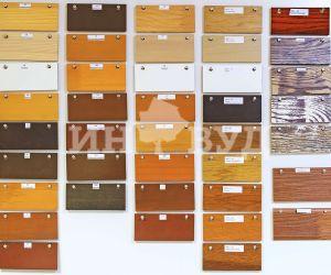 Фотография цветовой палитры для деревянных окон со стеклопакетами