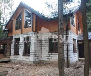 Остекление комбинированного дома окнами Инвуд в Московской области