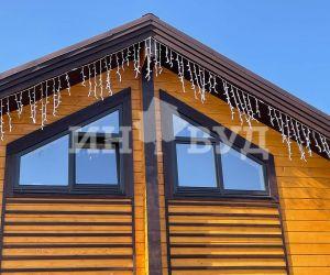Фотография установки новых окон Инвуд в частном доме в МО