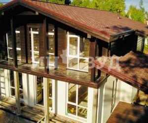 Остекление комбинированного дома окнами Инвуд