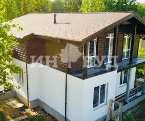 Окна Инвуд для комбинированного дома в Московской области