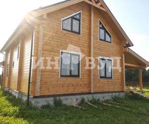 Остекление дома из клееного бруса - окна от Инвуд
