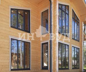 Панорамные окна Инвуд в деревянном доме
