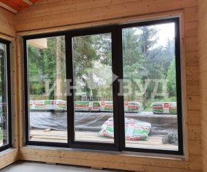 Остекление деревянными окнами из сосны