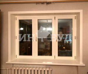 Остекление квартиры окнами Инвуд изготовленными из натурального дерева