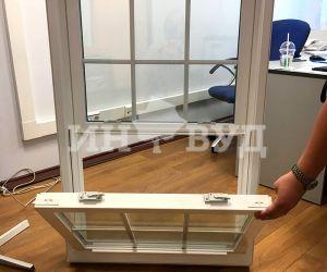 Застеклить окном ПВХ проем в деревянном доме