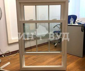 Фото изготовленного ПВХ окна для загородного дома в подмосковье