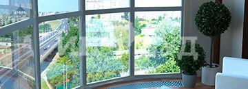 Деревянные панорамные окна – высокий стиль, оригинальное решение