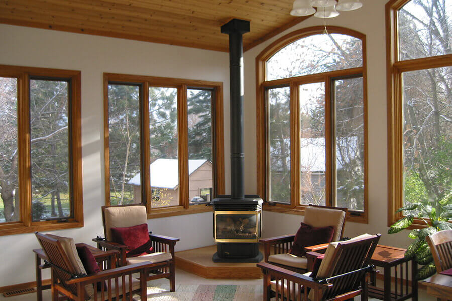 Купить деревянные окна из лиственницы ИнВуд (Inwood)