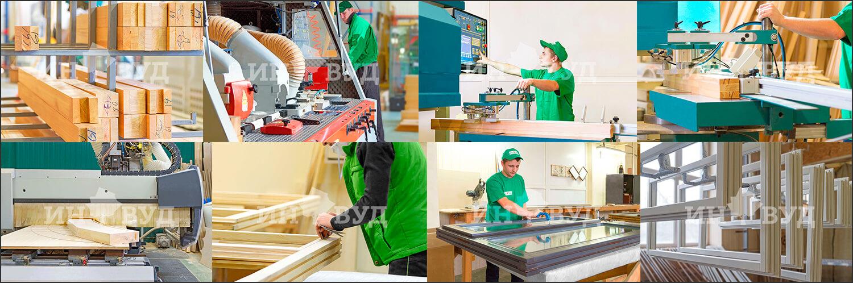 Процесс производства окон на заводе Инвуд
