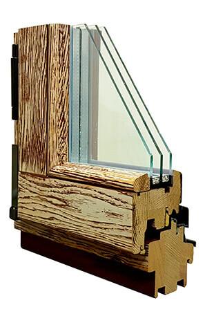 Профиль деревянного окна из дуба