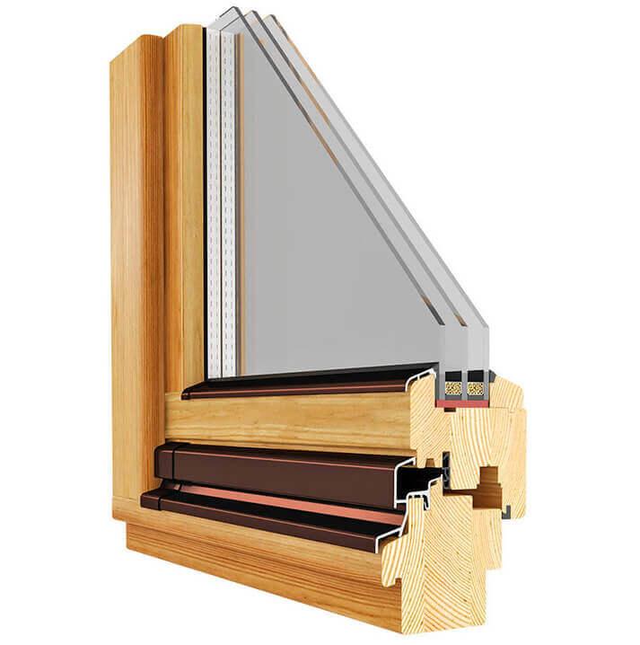 Профиль деревянного окна из лиственницы