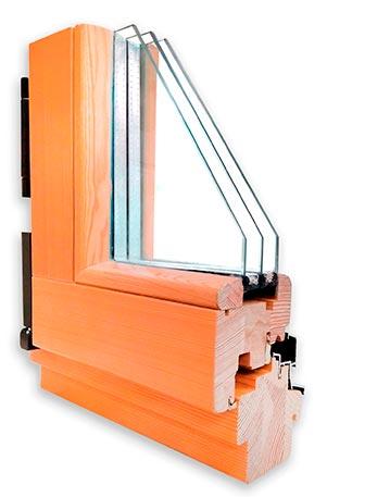 Профиль деревянного окна из сосны