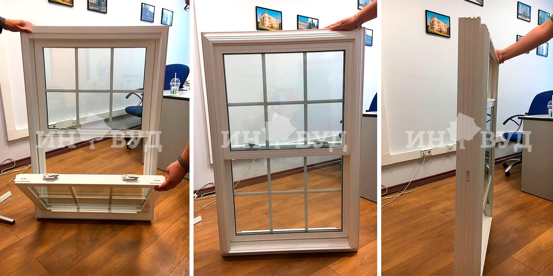 американское вертикальное окно от инвуд