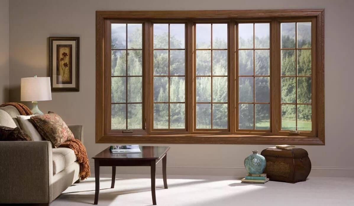 Большие деревянные окна в доме - почему богатые выбирают дорогие окна