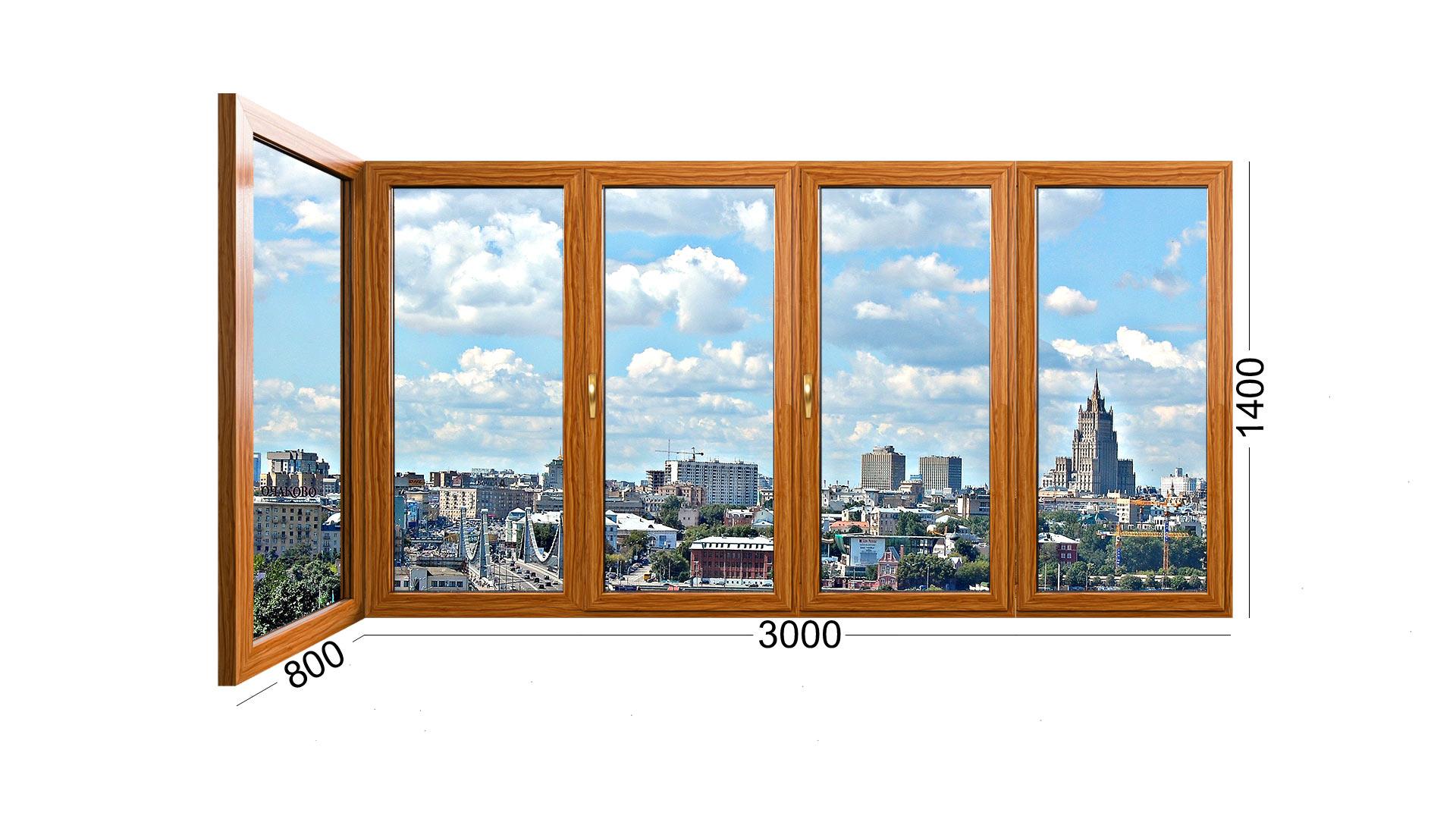 Угловая лоджия в панельном доме серии И-155 деревянная. Окна распашные от ИНВУД. Москва