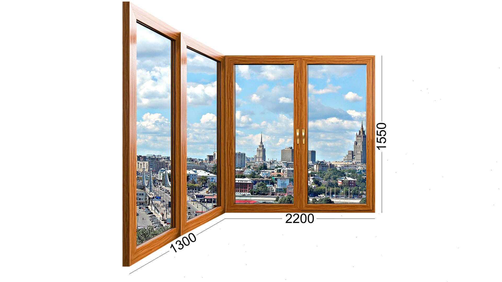 Фотография лоджии дома серии П-44Т, панельный. Деревянное окно, стеклопакет из дерева.