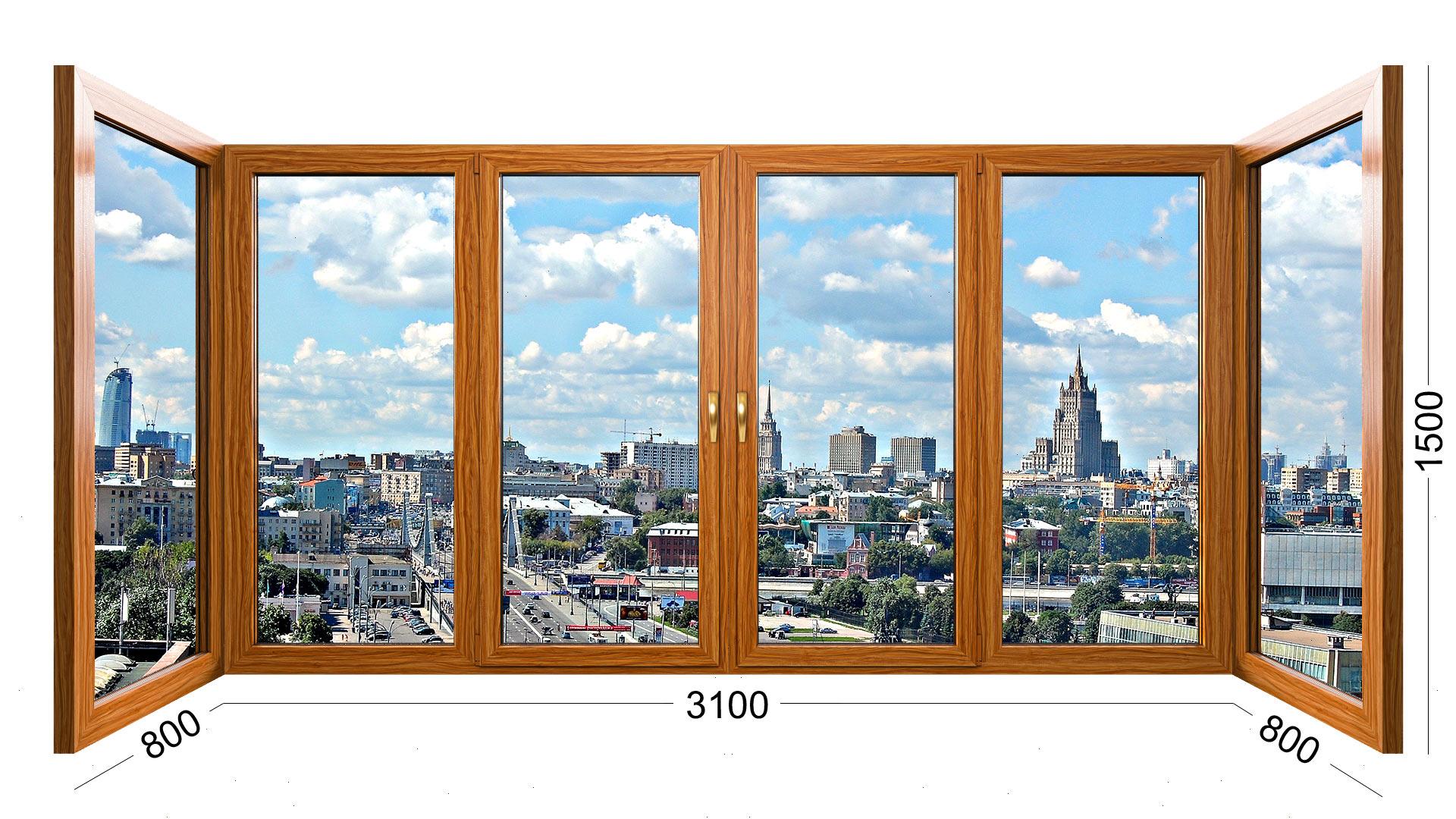 рама деревянная П образная для балкона дома серии ii 29