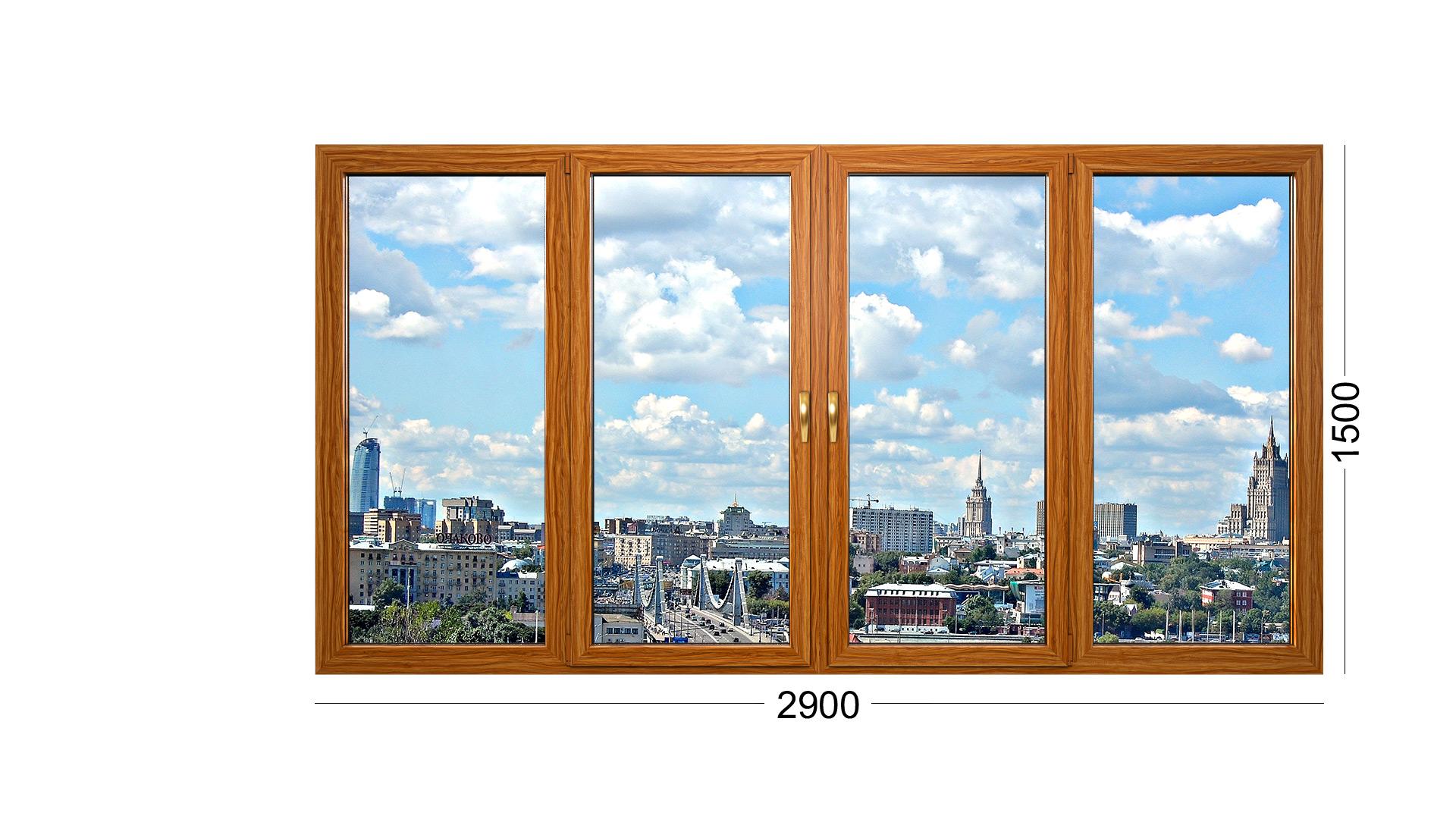 Конструкция фото окна деревянного из сосны или лиственницы, дуба для дома ii-57 серии