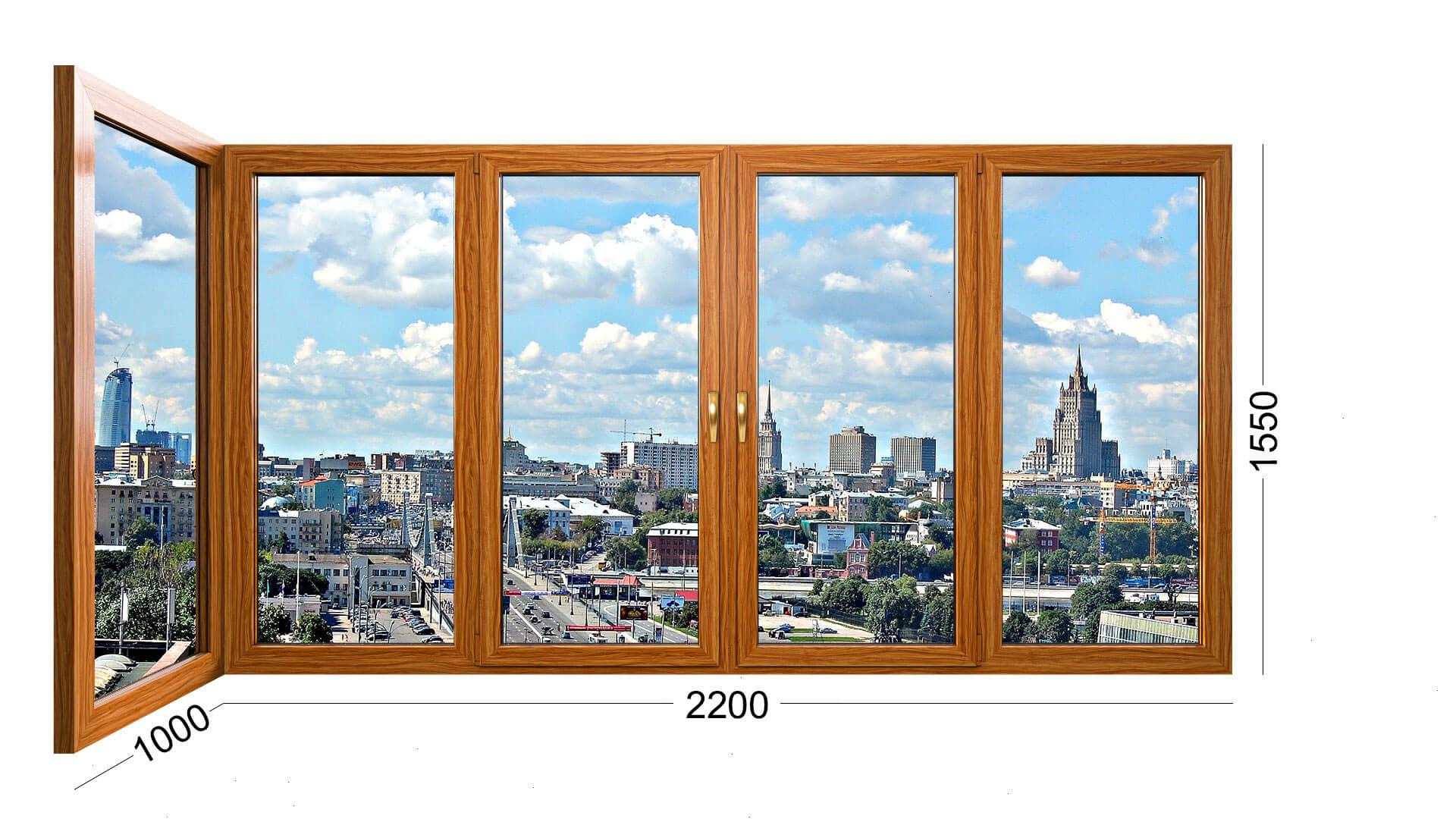 деревянные окна для балкона П3, фото конструкции, цена и цвет окна