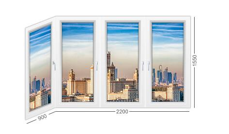 размеры и конструкция балкона и лоджии в доме серии П-3, окна ПВХ