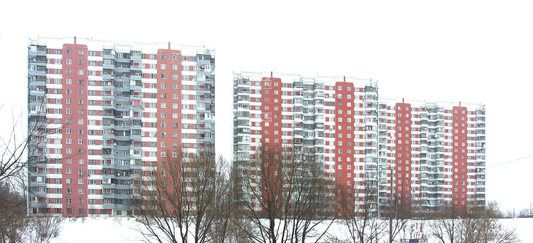 красный дом серии П3, остекление балкона (лоджии) П-3