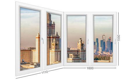 размеры и конструкция балкона и лоджии в доме серии П-3М, окна ПВХ