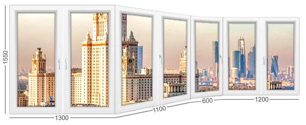размеры и конструкция балкона каблук и лоджии в доме серии П-3М, окна ПВХ