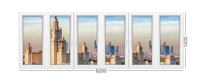 Конструкция окна в доме серии ii-68 белого цвета, холодный или теплый профиль рехау