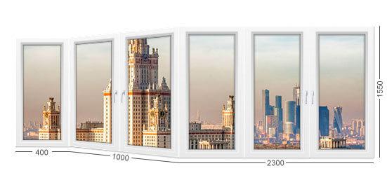 Как выглядит балкон (лоджия) в доме серии П-44 или П44, выбрать профиль окна из REHAU