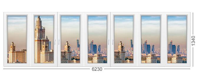 Описание и фото окна в доме серии ii-68-2, белый цвет, профиль ПВХ или алюминий