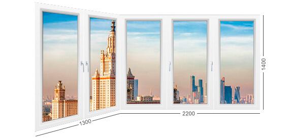 Угловой балкон И-155, конструкция и описание. остекление теплое ПВХ. Фото лоджии 155