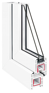 окна ПВХ Rehau Blitz new (Рехау Блитц) - белый профиль