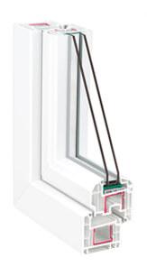 окна ПВХ Rehau BRILLIANT DESIGN (Рехау Бриллиант дизайн) - белый профиль