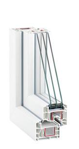 окна ПВХ REHAU INTELIO (Рехау Интелио) - белый профиль